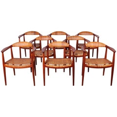 "Set of Eight ""Classic"" Chairs by Hans Wegner for Johannes Hansen"
