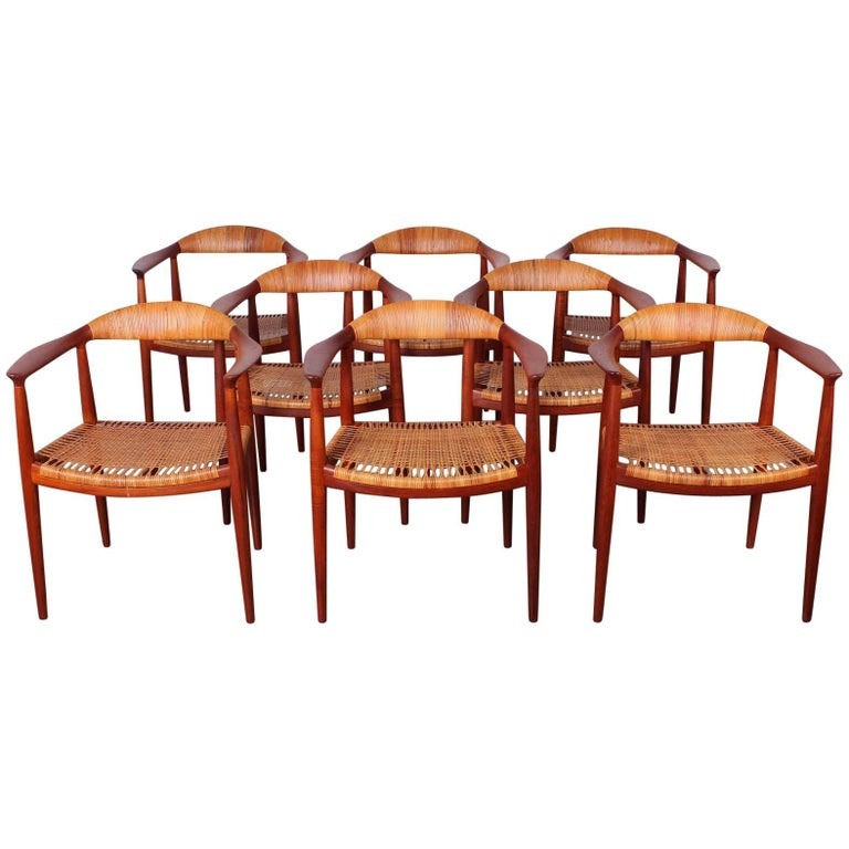 "Set of Eight ""Classic"" Chairs by Hans Wegner for Johannes Hansen 1"