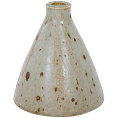 Conical Vase with a Textured Ivory Glaze by Marianne Westman, 1928-2017