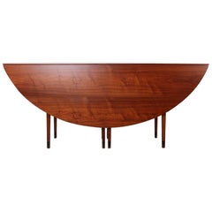 Walnut Drop-Leaf Console Table by Edward Wormley for Dunbar