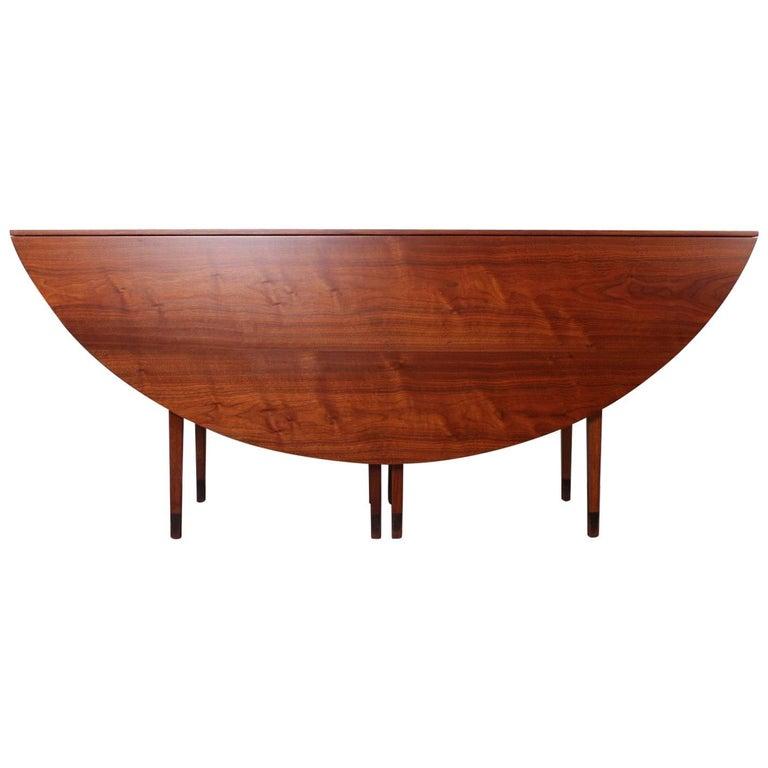 Walnut Drop-Leaf Console Table by Edward Wormley for Dunbar 1