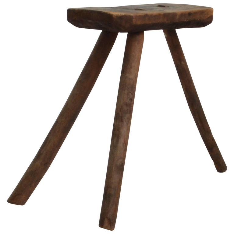 Vintage Wooden Milking Stool 18th Century At 1stdibs