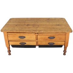 19th Century Coffee Table with Drawers
