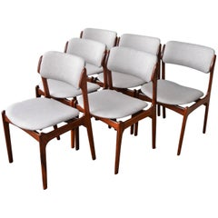 Erik Buch Model 49 Rosewood Dining Chairs, Set of Six, Danish Modern