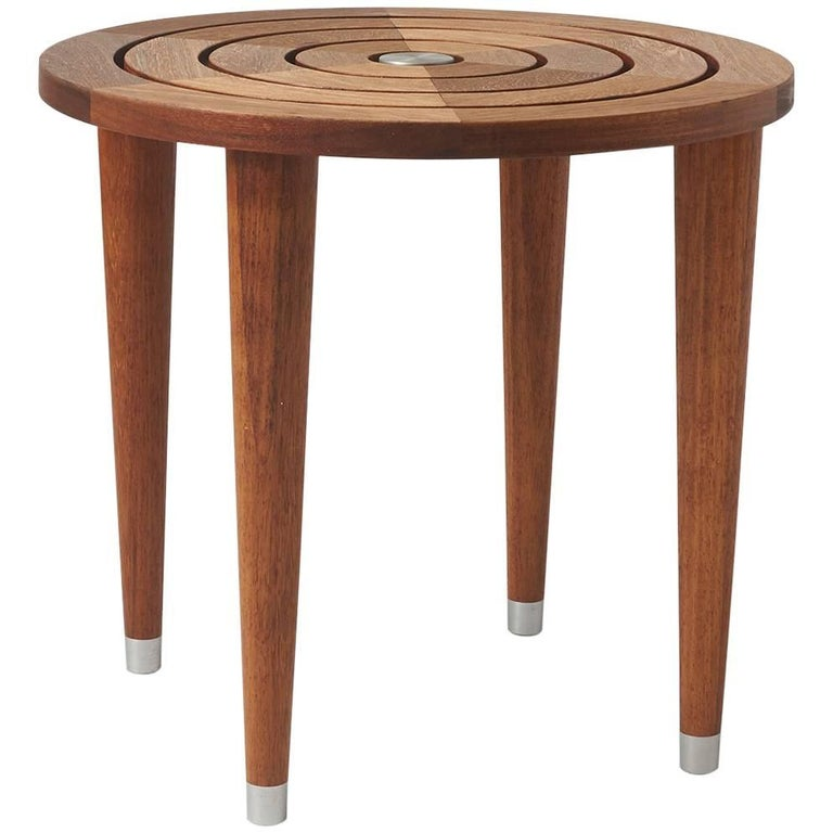 Target Table in Solid Teak For Sale