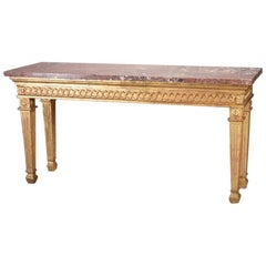 Italian Neoclassical Style Giltwood Long Console Table