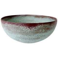 """Beatrice Wood """"Beato"""" Pottery Bowl Verdigris Volcanic Glaze"""