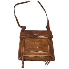 African Tuareg Moroccan Shoulder Leather Bag