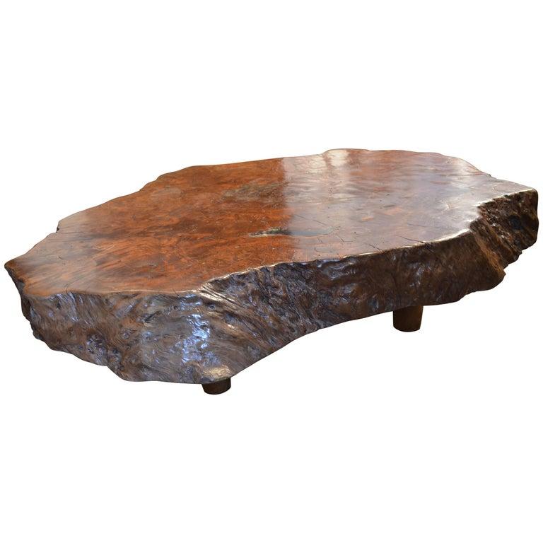 Andrianna Shamaris Lychee Wood Coffee Table