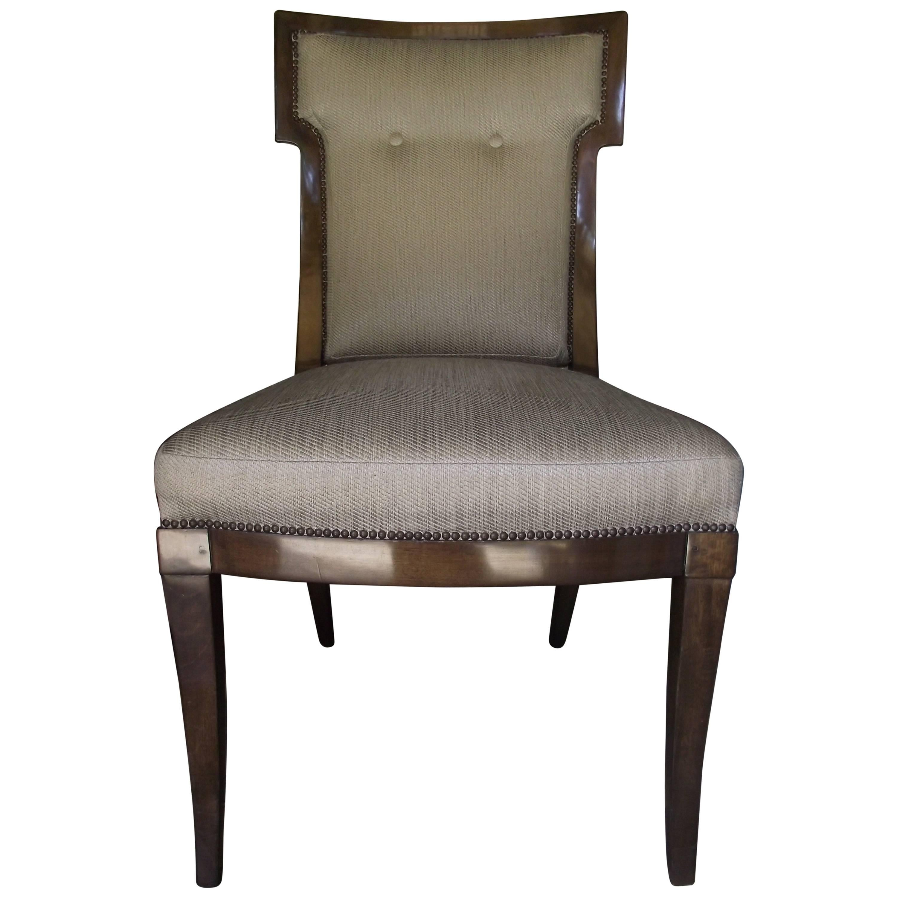 William Switzer Chair, Mahogany Upholstered Occasional Chair