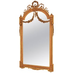 Tall French Giltwood Neoclassical Mirror