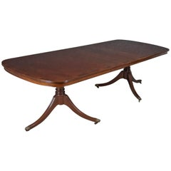 Eight-Ten Seat Dining Table in Regency Taste, English, Mahogany, Harrods