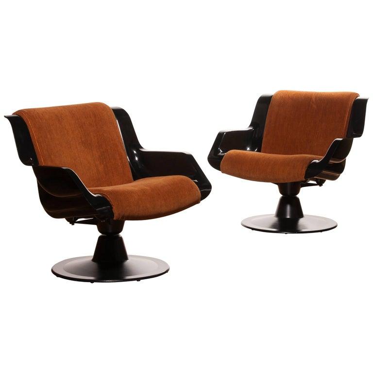 1960s, Yrjö Kukkapuro Set Chairs Model 3814-1KF