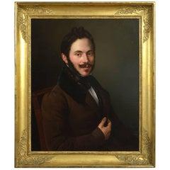 Eduard Pingret Portrait of Alfred De Boufeir