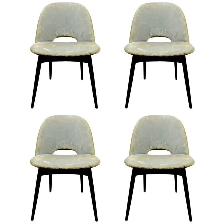 Set of Four Pearsall Dining Chairs For Sale