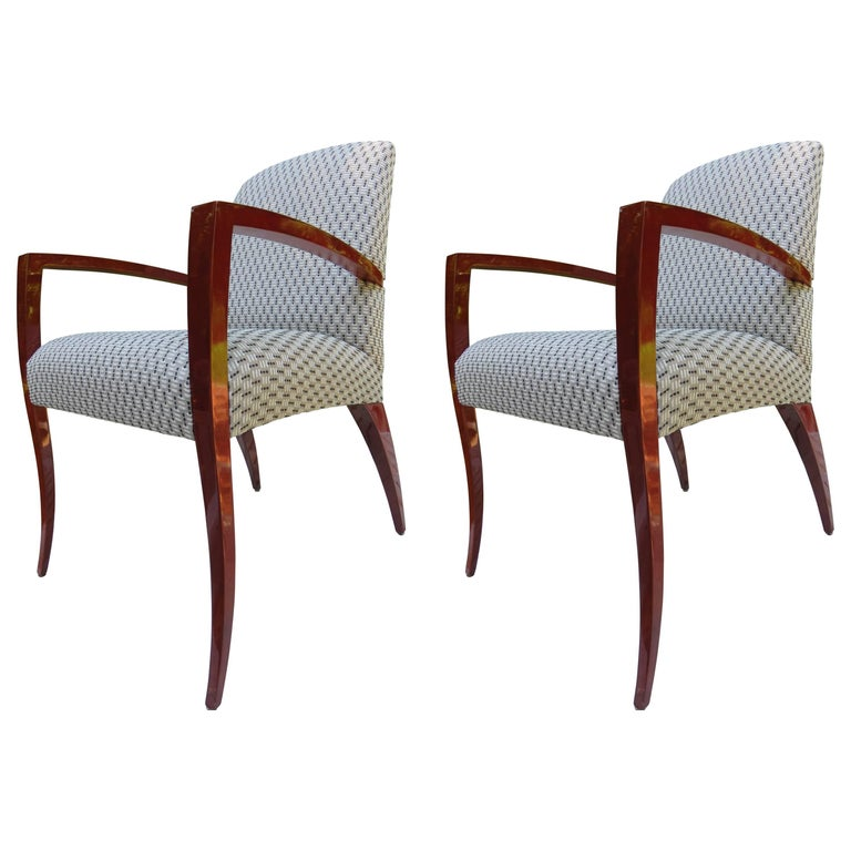 Pair of Kenneth Winslow Studio Crafted Armchairs For Sale