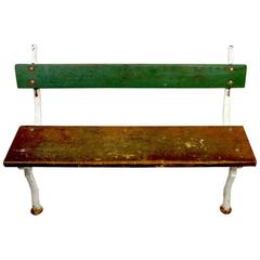 Rustic Iron and Wood Garden Bench