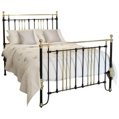 Brass and Iron Bed in Black MK115