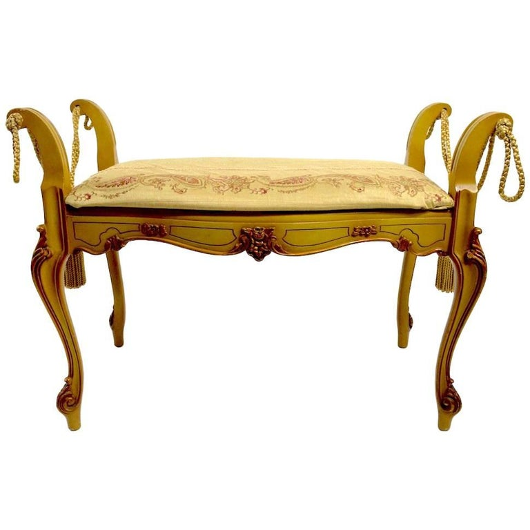 Romantic Vanity Bench in the French or Italian Style