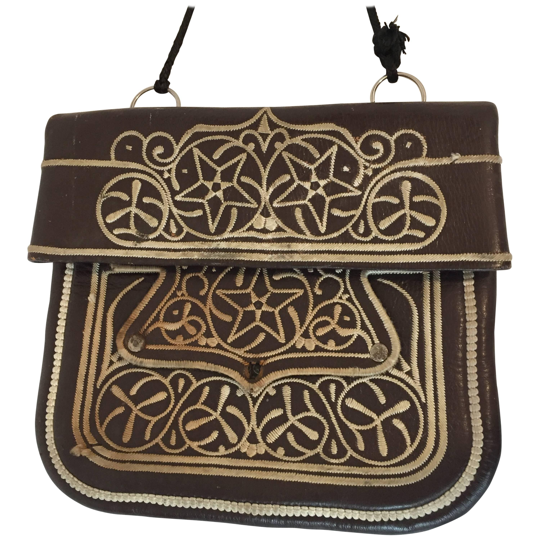Cross Body Leather African Berber Tribal Moroccan Bag