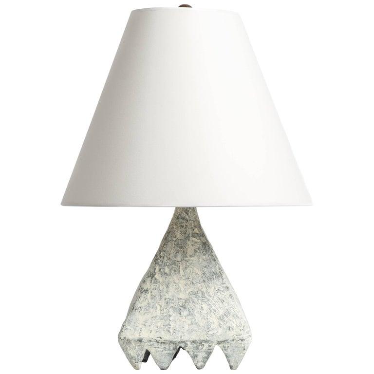 Cast Resin Plaster Texture Cubetto Table Lamp, Kacper Dolatowski For Sale
