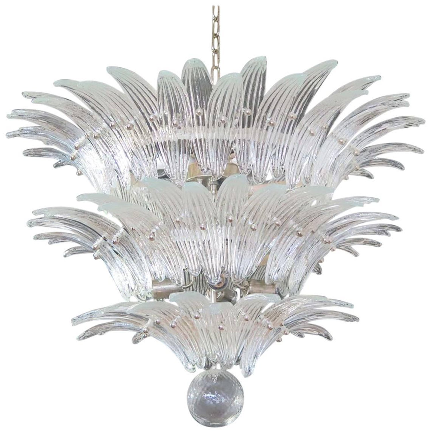 Palmette Ceiling Light Barovier and Toso Murano Chandelier at