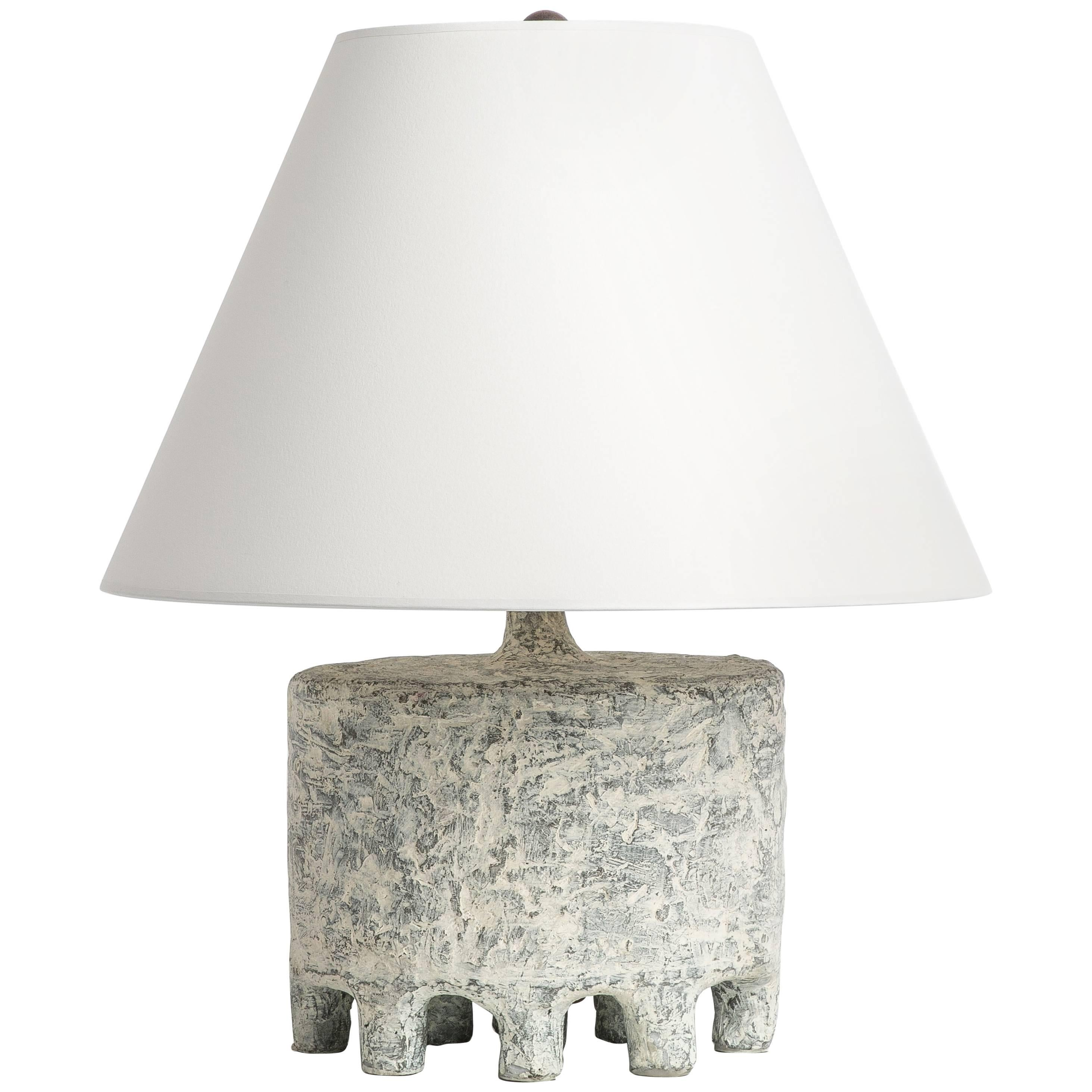 Cast Resin Plaster Texture Kubus Table Lamp, Kacper Dolatowski