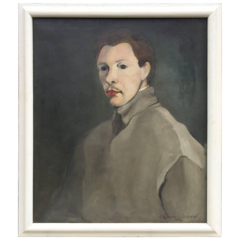 Marcel Lefèvre, Oil on Canvas Signed and Dated 1946 For Sale