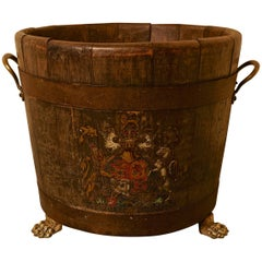 Oak Iron Bound Ships Barrel, with the Royal Coat of Arms