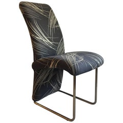 Milo Baughman for Thayer Coggin Tubular Brass Chair