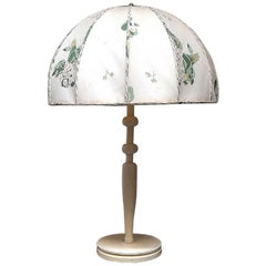 Josef Frank for Swedish Tenn Large Art Deco Table Lamp with Fabric Screen