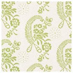 Schumacher Vogue Living Collection Millicent Floral Leaf Wallpaper Two Roll Set