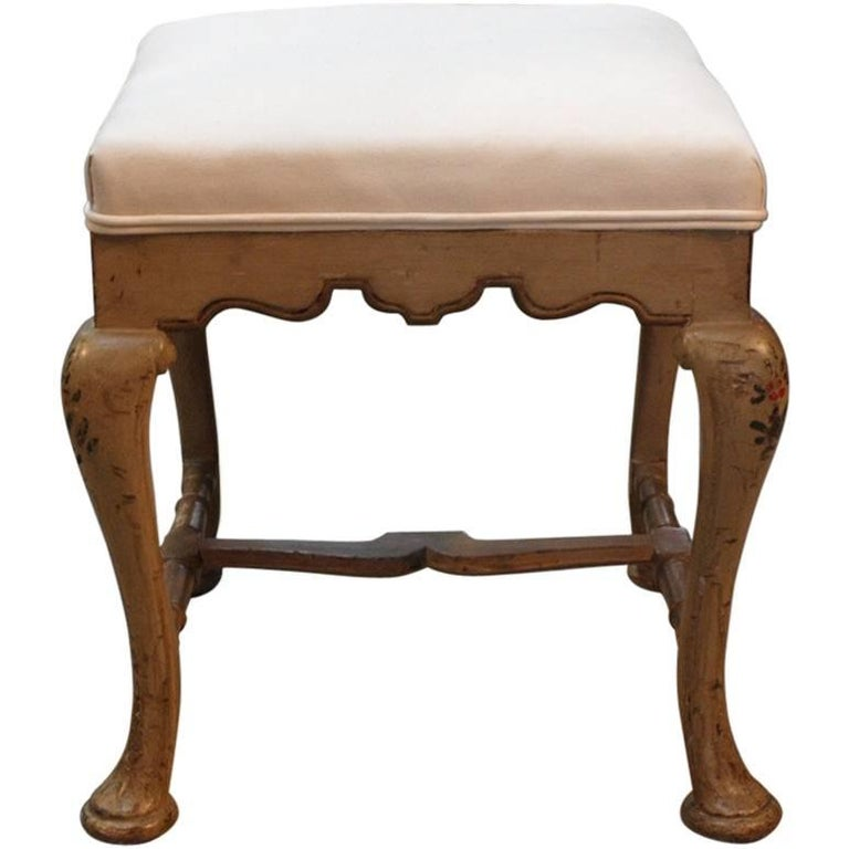 Italian Stool In Painted Wood For Sale At 1stdibs