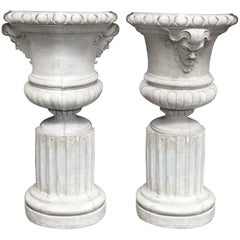 Massive Pair of Marble Urns
