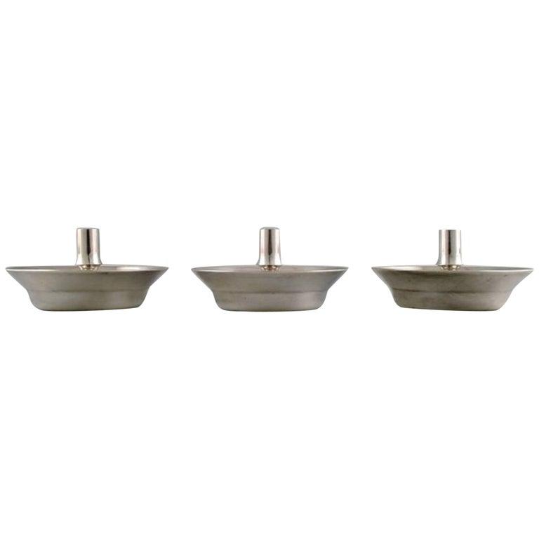 Jens H. Quistgaard, Danish Design, 1960s, Three Candlesticks