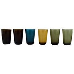 Kaj Franck Nuutajärvi Glass Works, Six Drinking Glasses