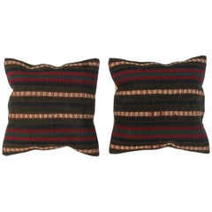 Set Antique Pillows Made Out of a 19th Century Turkish Kilim
