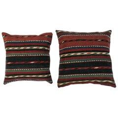 Antique Pillows Made Out of 19th Century Shahsavan Caucasian Kilim