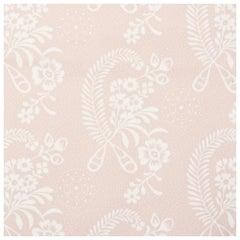 Schumacher Vogue Living Collection Millicent Floral Rose Wallpaper Two Roll Set