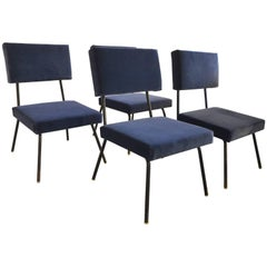 Beautiful Set of Fours Reupholstered Chairs, circa 1960
