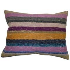 Bohemian Style Turkish Kilim Rug Pillow