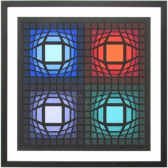 Victor Vasarely Op Art Signed and Numbered Serigraph