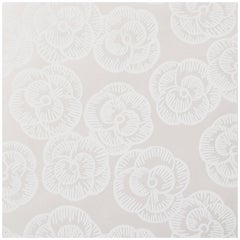 Schumacher Vogue Living Collection Mona Floral Whitework Wallpaper Two Roll Set