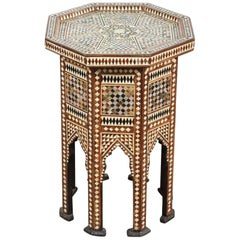 Syrian Octagonal Table Inlay with Mother-of-Pearl