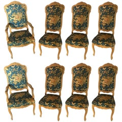 Set of Eight Louis XV Style Dining Room Chairs