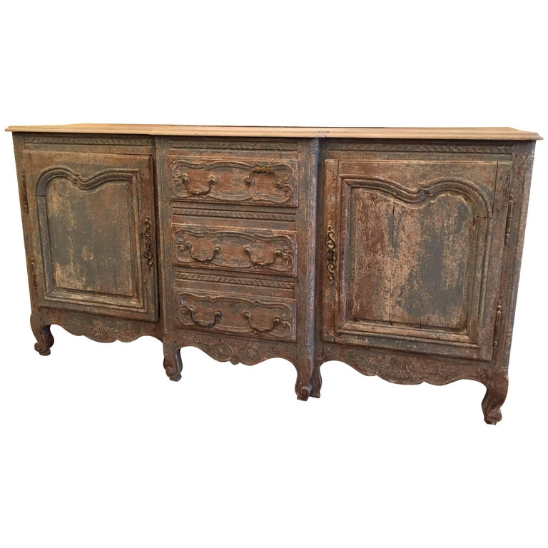 antique french louis xv style painted oak buffet. Black Bedroom Furniture Sets. Home Design Ideas
