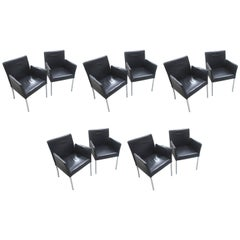 Walter Knoll 'Jason' Set of Ten Dining Chairs, Current Model