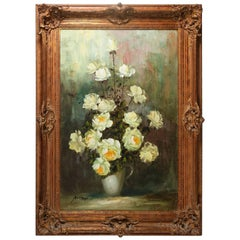 Monumental Vintage French Still Life Oil on Canvas, Signed, 20th Century