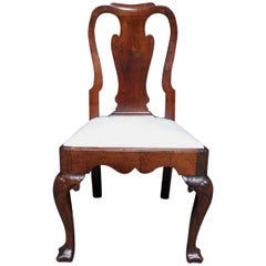American Walnut Upholstered Desk Chair, Philadelphia, Circa 1730