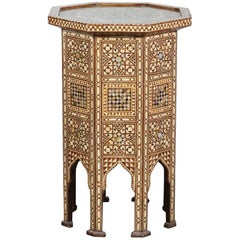 Syrian Moorish Large Octagonal Pedestal Table